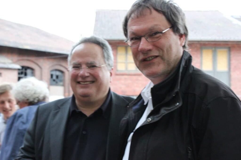 Johannes Linn mit Nikos Kotzias